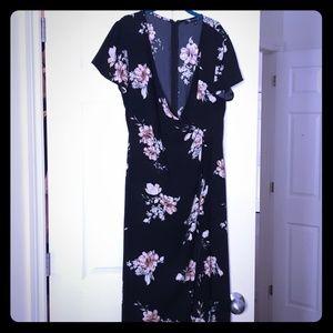 Floral Maxi Wrap Dress S